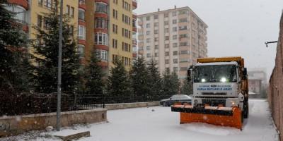 Altındağ'da kar seferberliği